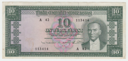 Turkey 10 Lirasi 1930 (1960) VF+ Banknote Pick 161 - Turkey