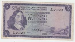 South Africa 5 Rand 1967 - 1974 VF Pick 112b 112 B - Zuid-Afrika