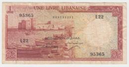 Lebanon 1 Livre 1955 VF Pick 55 - Lebanon