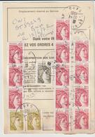 Ordre De Réexpédition Temporaire  Sabine  O. Nîmes  -> Corrèze - Marcophilie (Lettres)