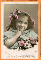 SPR319, Bébé, Lotus, 521, Petite Fille, Circulée 1909 - Neonati