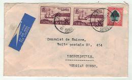 Grande-Bretagne, Ex-Colonies, South Afrika // Lettre Par Avion Pour Lépoldville - Afrique Du Sud (...-1961)