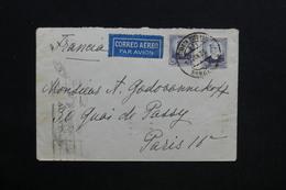 ESPAGNE - Enveloppe De Barcelone Pour Paris En 1936 Par Avion - L 28768 - 1931-50 Briefe U. Dokumente