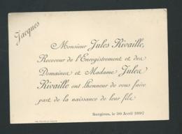 Surgères   - F.P. Naissance De  Jacques Rivaille Le 30/04/1897 ( Sans Enveloppe )  -  Pma 73115 - Birth & Baptism