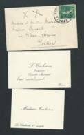 Avril 1918, Cartes  Visite De M Et MME TACHERON  NEGOCIANT ET CONSEILLER MUNICIPAL à  Poitiers   -  Pma 7316 - Announcements