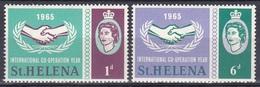 St. Helena 1965 Organisationen UNO ONU Zusammenarbeit Cooperation Hände Hands Lorbeer, Mi. 169-0 ** - Isla Sta Helena