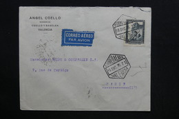 ESPAGNE - Enveloppe Commerciale De Valencia Pour Paris En 1935 Par Avion - L 28769 - 1931-50 Briefe U. Dokumente