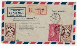 Afrique Equatoriale Française, A.E.F. // Lettre Recommandée Par Avion Pour Leopoldville - A.E.F. (1936-1958)