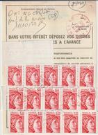 Ordre De Réexpédition Temporaire Sabine + Vignette  O. Nîmes Rouge  -> Château Chinon - Marcophilie (Lettres)