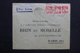 ALGÉRIE - Enveloppe Commerciale De Alger Pour Paris En 1930 Par Avion - L 28770 - Lettres & Documents