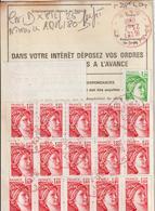 Ordre De Réexpédition Temporaire  Sabine + Vignette  O. Nîmes Rouge  -> Pradelles - Marcophilie (Lettres)