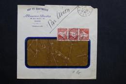 ALGÉRIE - Enveloppe Commerciale De Alger Pour Paris En 1932 Par Avion - L 28771 - Lettres & Documents