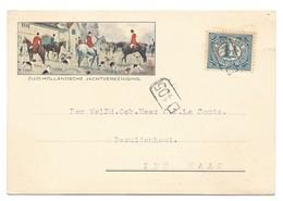 Nederland 1916 Gekleurde Briefkaart V/d Jacht-vereniging Zuid Holland. - 1891-1948 (Wilhelmine)