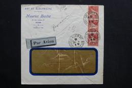 ALGÉRIE - Enveloppe Commerciale De Alger Pour Paris En 1932 Par Avion - L 28773 - Lettres & Documents