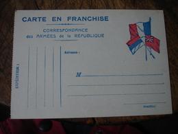 Stendhal 3 Drapeaux Allies Carte Franchise Postale Militaire Guerre 14.18 - Marcophilie (Lettres)
