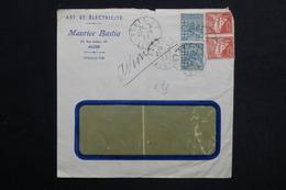 ALGÉRIE - Enveloppe Commerciale De Alger En 1933 Par Avion - L 28774 - Lettres & Documents