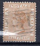 SIERRA LEONE - (Colonie Britannique) - 1876-96 - N° 10 - 1/2 P. Bistre - (Victoria) - Sierra Leone (...-1960)