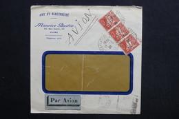ALGÉRIE - Enveloppe Commerciale De Alger En 1934 Par Avion Pour Paris - L 28775 - Lettres & Documents