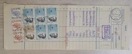 Belgium: Official Postal Receipt Form?, 1984, 9 Stamps, High Value, King, Cancel Lembeek (2 Stamps Damaged, Fold) - Storia Postale