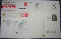 Document La Poste Lot De 6 Entiers Postaux 5 Neufs Et 1 Oblitéré, Dont 5 Fête Du Timbre - Postdokumente
