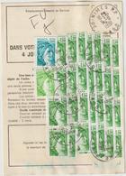 Ordre De Réexpédition Temporaire  Timbres De Roulettte Sabine O. Nîmes -> Capvern - Marcophilie (Lettres)