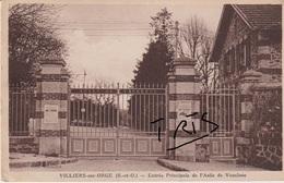 CP1 - 102 - VILLIERS-SUR-ORGE - ENTREE PRINCIPALE DE L'ASILE DE VAUCLUSE - France