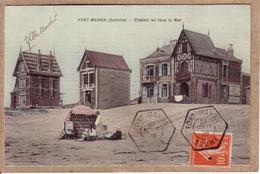 SOMME , VAUCLUSE - CARTE FORT MAHON POUR AVIGNON , CACHET HEXAGONAL RECETTE AUXILIAIRE RURALE SUR 10 C SEMEUSE - 1908 - Marcophilie (Lettres)