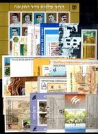 Israël 18 Blocs-feuillets Neufs ** MNH 1974/1989. TB. A Saisir! - Blocs-feuillets