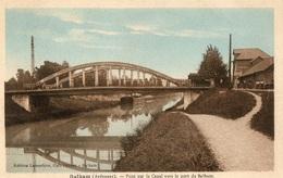 CPA Balham Pont Sur Le Canal Vers Le Port De Balham - France