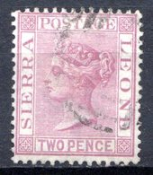 SIERRA LEONE - (Colonie Britannique) - 1876-96 - N° 13 - 2 P. Lilas - (Victoria) - Sierra Leone (...-1960)