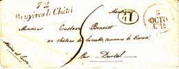 Cursive 72 Bruyères Le Chatel [91] - Collection De Seine Et Oise - 1844 - Marcophilie (Lettres)