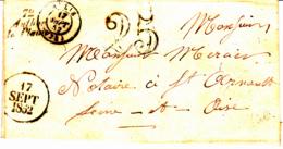 Cursive 72 Authon La Plaine (Mérobert) [91] - Collection De Seine Et Oise - 1852 - 1849-1876: Période Classique