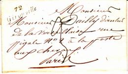 Cursive 72 Gironville (Maisse) - Collection De Seine Et Oise - 1848 - Marcophilie (Lettres)