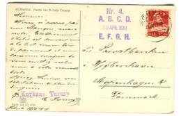 Kurhaus TARASP Violett Stempel Schuls Poststempel 1919 - GR Grisons