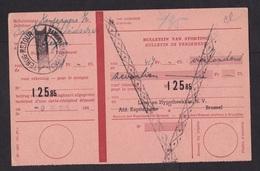 Belgium: Official Postcard: Proof Of Deposit, 1945, Cancel Returned, Retour, Postal Bank Service (traces Of Use) - België
