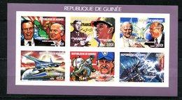 Thème Général De Gaulle - Guinée Yvert BF 902 Bloc De 6 Valeur - Non Dentelé - Neuf XXX - Lot 176 - De Gaulle (General)