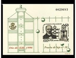 PRUEBA OFICIAL Nº 57 (EDIFIL) DIA DEL SELLO 1996 - (Prueba De Lujo Nº 10) - OFERTA POR LIQUIDACION - Hojas Conmemorativas