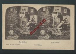 """Surréalisme. Noël, Couple, Vision.   """" Une Vision""""  Dessin 533.  2 Scans. - Cartes Postales"""