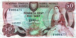 Billet De 50 Cents Chypre 1984 En B - Cyprus