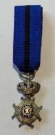 Médaille Décoration Ordre De Léopold II. Médaille Miniature - Réduction. - Royaux / De Noblesse