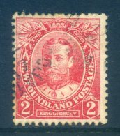 Newfoundland 1911-16 Coronation - 2c King George V - P.14 - Used (SG 118a) - Newfoundland