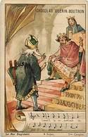 - Chromos -ref-ch490- Guerin Boutron - 12 Vieilles Chansons Illustrées - Le Roi Dagobert - 7e Couplet - - Guérin-Boutron