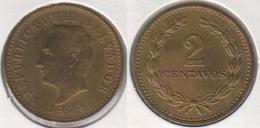 El Salvador 2 Centavos 1974 KM#147 - Used - El Salvador