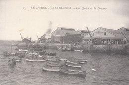 CPA CASABLANCA (MAROC) LES QUAIS DE LA DOUANE - Casablanca