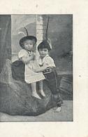 Early Advertisement Card,  Young Girl/ Boy, Heidenrijk, Koffie, Hoorn - Reclame