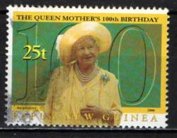 PAPUA NUOVA GUINEA - 2000 - Queen Mother 100th Birthday - USATO - Papua Nuova Guinea