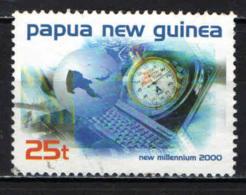 PAPUA NUOVA GUINEA - 1999 - Millennium: Stopwatch, Computer Keyboard - USATO - Papua Nuova Guinea