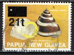 PAPUA NUOVA GUINEA - 1994 - Shells - Overprinted - USATO - Papua Nuova Guinea