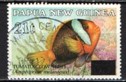 PAPUA NUOVA GUINEA - 1994 - Fish - Overprinted - USATO - Papua Nuova Guinea