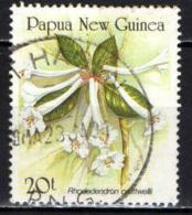 PAPUA NUOVA GUINEA - 1989 - Rhododendron - USATO - Papua Nuova Guinea